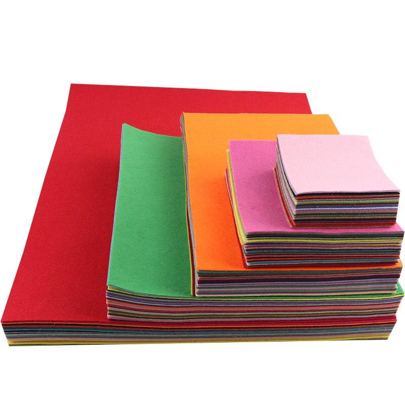 Разноцветная ткань, полиэфирная Нетканая войлочная ткань 1 мм для украшения дома, свадьбы, вечеринки, рукоделия, шитье|Войлок| | АлиЭкспресс