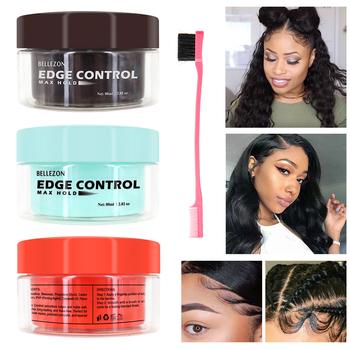 Odświeżający olejek do włosów wosk kremowy kontrola krawędzi dla mężczyzn kobiece włosy w proszku kontrola krawędzi długotrwałe wykończenie włosów żel utrwalający włosy tanie i dobre opinie BL-B0083 Pomady i woski Hair Edge Control Cream Hair Gel Pomade Hair Cream Hair Clay Drop Shipping