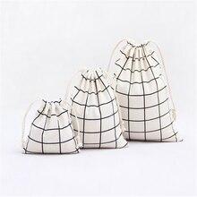 Модные женские и мужские сумки на шнурке унисекс в стиле ретро, переносные сумки для макияжа, пакеты для упаковки обуви, сумка для хранения