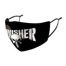 Punisher máscara facial cosplay adereços traje acessórios adulto masculino feminino halloween máscaras respiráveis