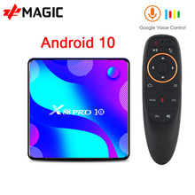 X88 PRO 10 TV Box Android 10,0 4GB 64GB 128GB Rockchip RK3318 4K Media player android tv box Google Stimme smart tv box