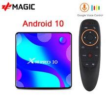 X88 PRO 10 TV kutusu Android 10.0 4GB 64GB 128GB Rockchip RK3318 4K medya oynatıcı android tv kutusu Google sesli akıllı tv kutusu