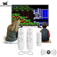 Данные лягушка беспроводной портативный игровой плеер встроенный в 620 классические 8 битные игры Поддержка ТВ выход игровая консоль с двойн...