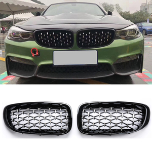Image 1 - EIN Paar Auto Front Nieren Grills Diamant Grille für BMW 3 Serie GT F34 Gran Turismo 328i 330i 335i 340i 2012 2019 auto Styling