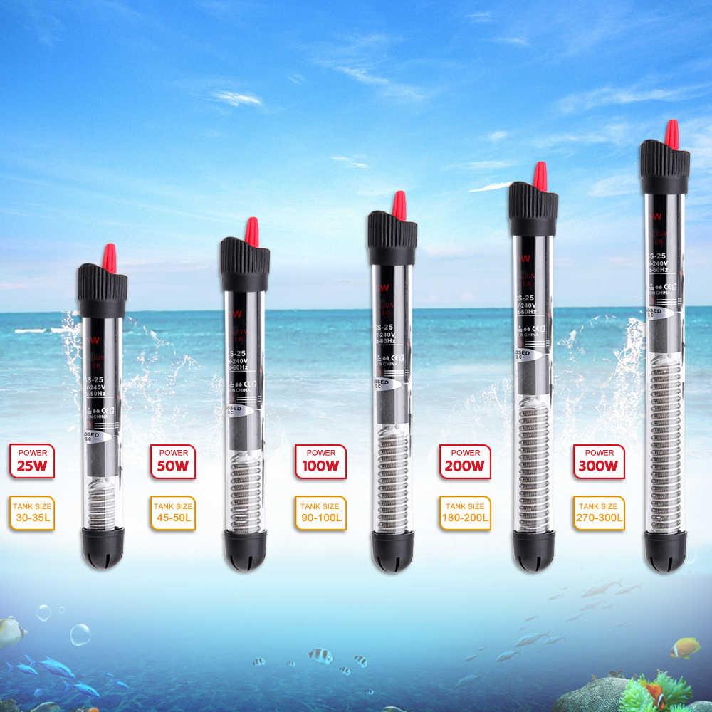 Hoomall Akuarium Pemanas Air dengan Tangki Ikan Akuarium Aksesoris Suhu Konstan Otomatis Penghangat Ruangan Rod Power Pemanas Hemat