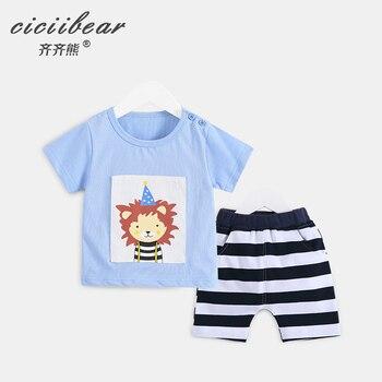 ciciibear baby clothes Baby boy Clothes Summer Short Sleeve Set Tracksuit Outfit Cartoon Print Boys girls kids