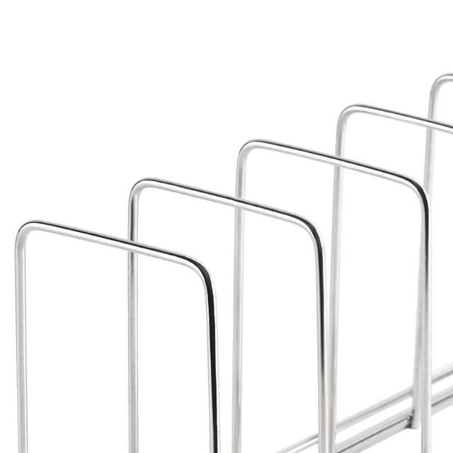 Kitchen Organizer Stainless Steel Dish Bowl Rack Drying Shelf Utensil Cutlery Drainer Storage Holder 3