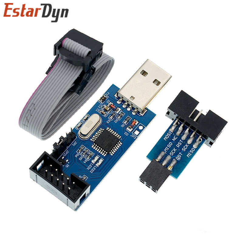 USB ISP USB ASP ATMEGA8 ATMEGA128 с поддержкой Win7 64 (случайный цвет)