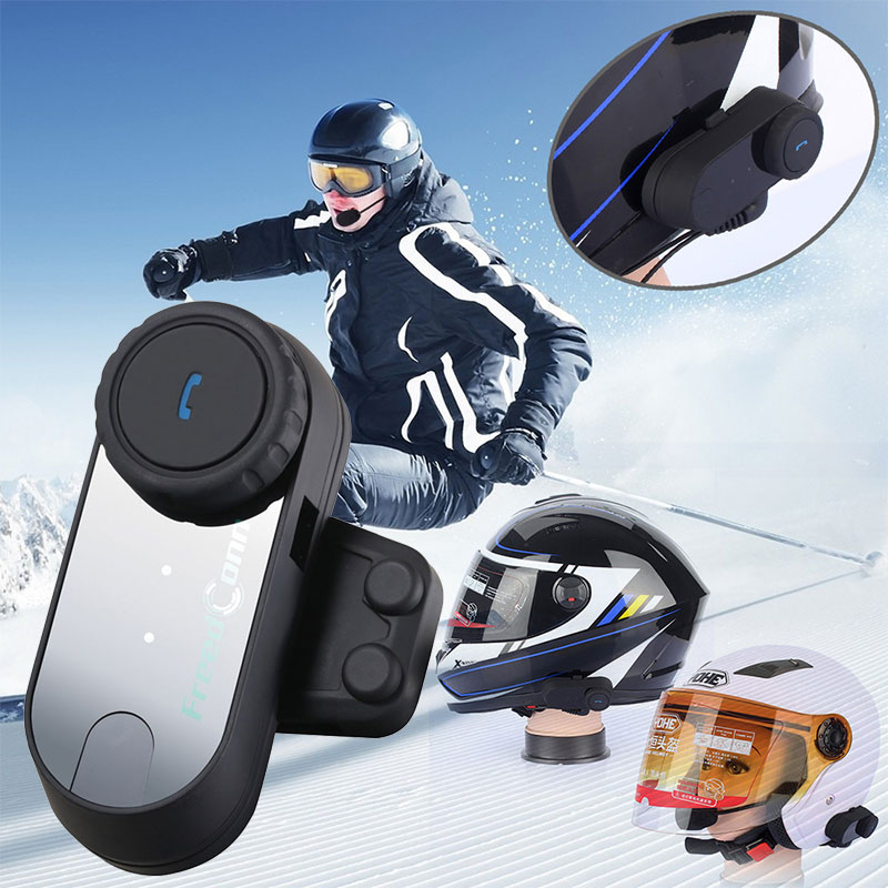 Vehemo T-COM VB Full-Duplex Helmet Walkie Talkie Bluetooth Intercom FM Durable Radio Ski Motorcycle Intercom Outdoor Sports