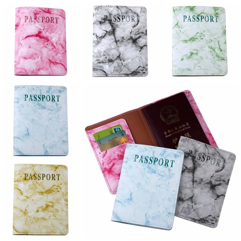 Newest Marble Travel Accessories Women Men Passport Holder Bag PU High Quanlity Travel Cover On The Passport Girl Passport Case