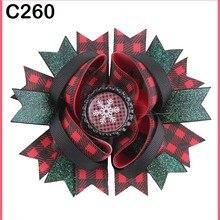 D 35 шт. Рождественский бант для волос карамельный тростник бант Санта заколка для волос оленьи рожки на ободке слоистые милые банты