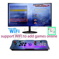 Wireless add Pandora Key Arcade 134 x3D Console with PCB Board 2 Player Home Use Controller 2448 Games Retro Video Game Machine