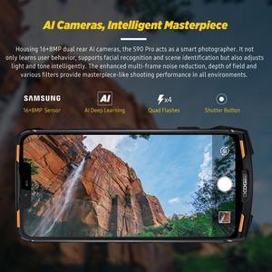 Image 5 - DOOGEE S90 برو IP68/IP69K هاتف محمول وعر الروبوت 9.0 الهاتف الذكي 6.18 FHD + عرض هيليو P70 الثماني النواة 6GB 128GB 16MP كاميرا