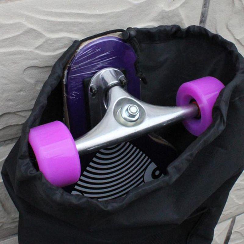 Waterproof Canvas Skateboard Bag Longboard Carry Case Backpack Cover Four Wheel Skateboard Backpack U1JC