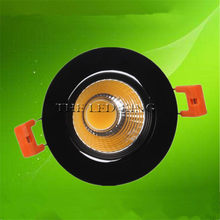 Special Black led spot Mini 5W 7W 9W COB LED Downlight Dimmable Recessed Lamp Light best for ceiling home office hotel 110V 220V(China)