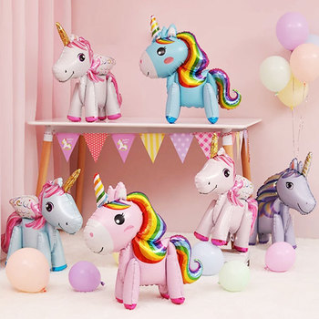Unicorn Party Birthday Decorations Kids Supplies Adult Happy Baby Shower Balloon