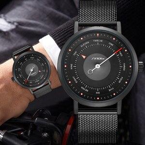 Image 3 - SINOBI חמה אופנה גברים של Creative ספורט שעון קוורץ שעון מזדמן צבאי זוהר עמיד למים שעון יד Relogio Dropshipping