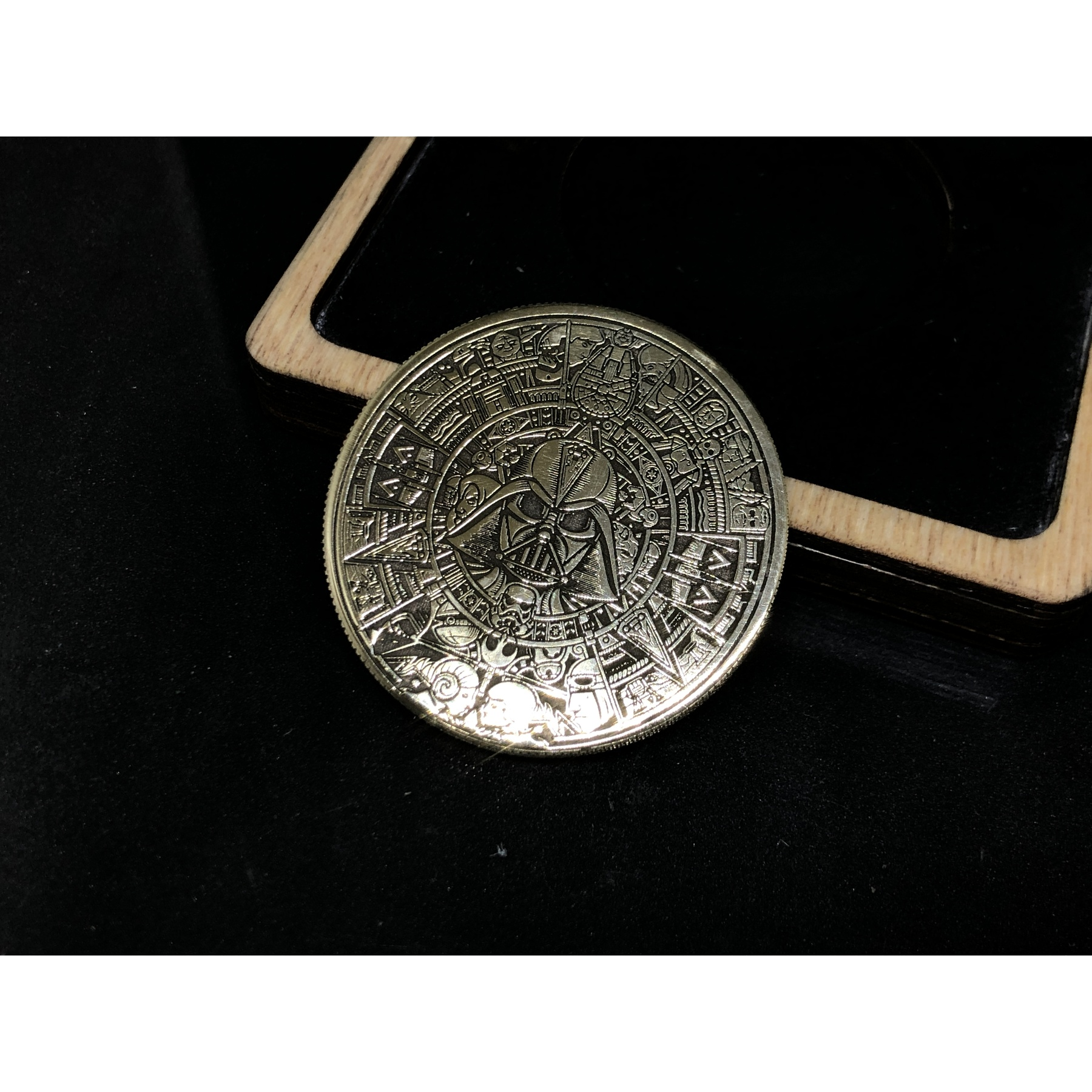 Collectible Coin Brass Engraved Star Wars