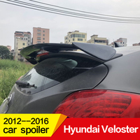 Use for Hyundai Veloster spoiler 2012 13 14 15 2016 year glossy carbon fiber/FRP rear roof wing Sport Accessories