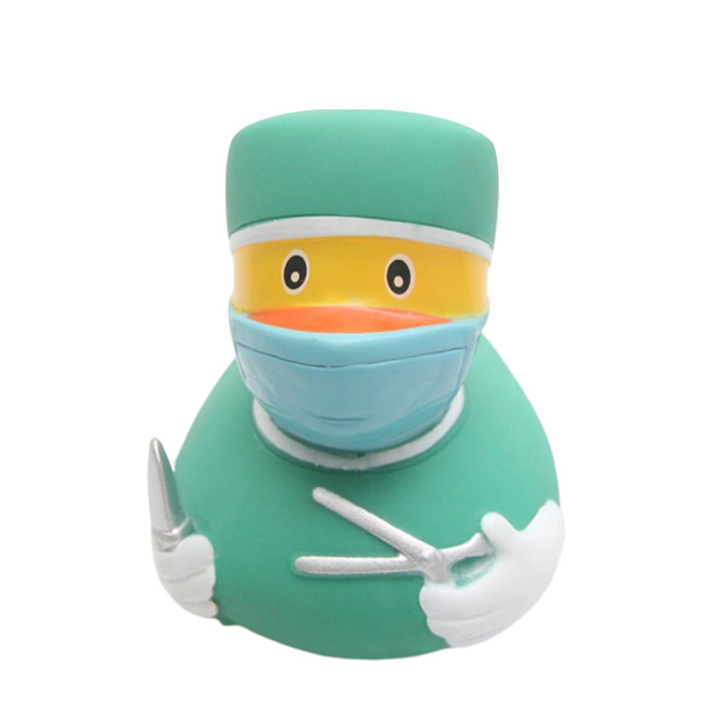 Classic Baby Teaching Cognitive Foating Water Toy Surgeon Doctor Shapedduck Toy Bathroom Floating Bath Toys