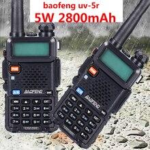 2 adet profesyonel iki yönlü telsiz ht baofeng uv 5r 2800mah mateur uzun menzilli walkie talkie 10 km avcılık amatör radyo CB verici