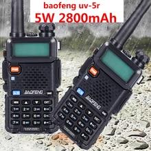 2PCS Professional วิทยุ HT Baofeng UV 5R 2800 mAh mateur ยาว walkie talkie 10 km การล่าสัตว์วิทยุ CB เครื่องส่งสัญญาณ