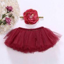Newborn Tutu Skirt Toddler Baby Headdress Flower Girls Photography Prop Outfits 85WA