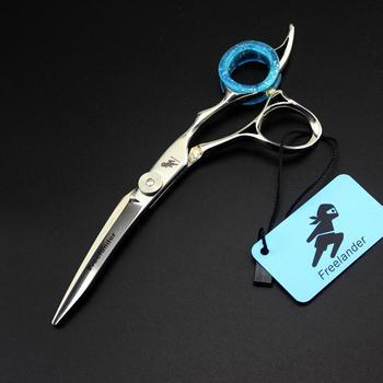 6 #8222 w dół zakrzywione nożyczki fryzjerskie nożyczki fryzjerskie japońskie nożyczki do włosów salon de coiffure coiffeur kobaltu nożyce nożyczki tanie i dobre opinie Fire Dragon 6 cal STAINLESS STEEL Japonia 440c Włosy nożyczek 17 5cm Nożyce do cięcia n260 9cr13 62HRC Japan 440C