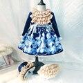 Платье для девочек в ретро-стиле  кружевное многослойное платье в сетку для маленькой девочки на весну-осень  рождественское платье для дев...