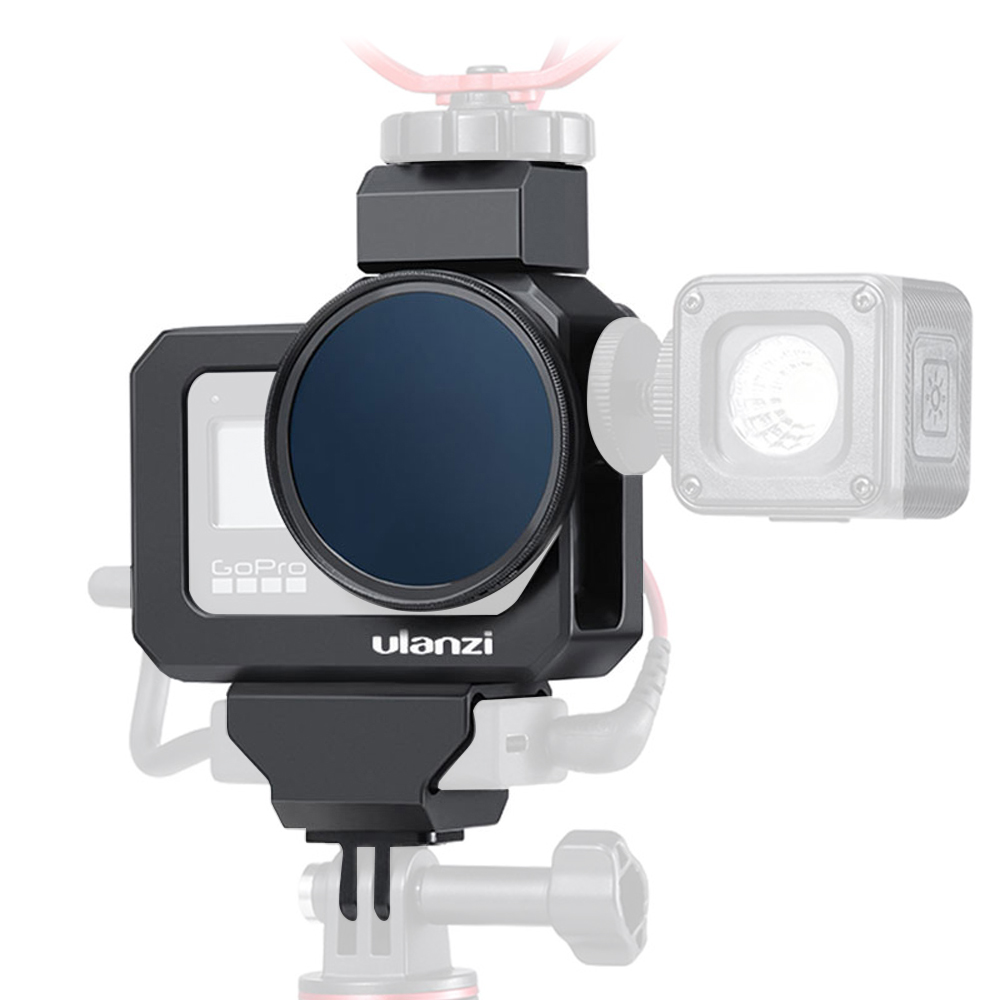 ULANZI Metal Vlog Frame Cage for Gopro Hero Black 8 Extend Cold Shoe Mount Quick Release Protective Case Camera Accessories