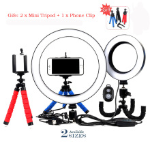 16cm/26cm LED Selfie Ring Light Dimmable LED Ring Lamp studio Photo Video Camera Phone Light ringlight For Live YouTube Makeup