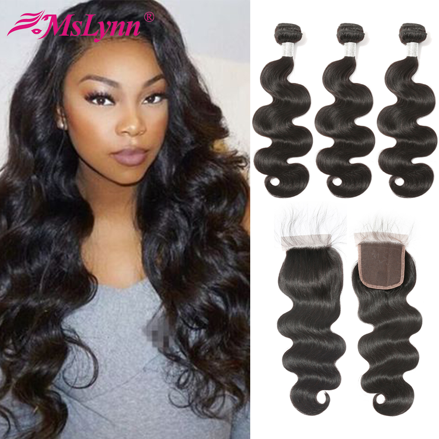 Body Wave Bundles With Closure Brazilian Hair Weave Bundles With Closure Human Hair Bundles With Closure Remy Hair With Closure