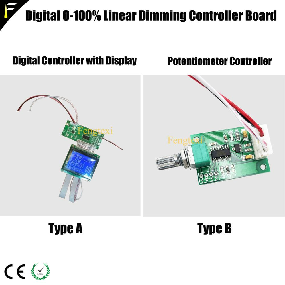 PWM Constant Current Drive Linear Dimming Controller PCB Part Board Potentiometer With Digital Display Fit LED SSD YYT CBT60w90w