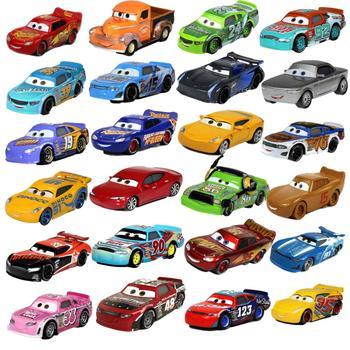 1:55 Disney Pixar Cars 2 3 Lightning McQueen Ramirez Action Figure Toys Diecast Vehicle Metal Alloy Boy Kid Toys Christmas Gift 1 43 disney pixar cars 3 thunder hollow lightning mcqueen taco jimbo t bone diecast model cars christmas gift toys for kid boy