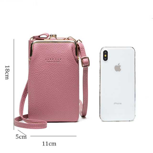 Women Phone Bag Solid Crossbody Bag 5
