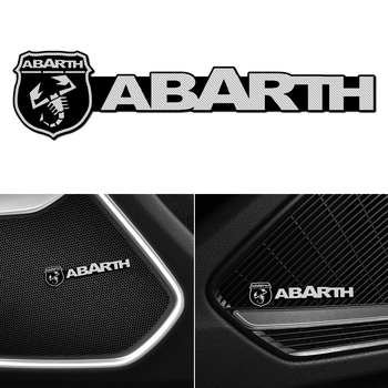 4pcs Car Sound Audio Video Aluminum 3D Stickers For Abarth 124 500 Grande Punto Spider 500C 595C 695C Evo 595 685 Car Accessorie image