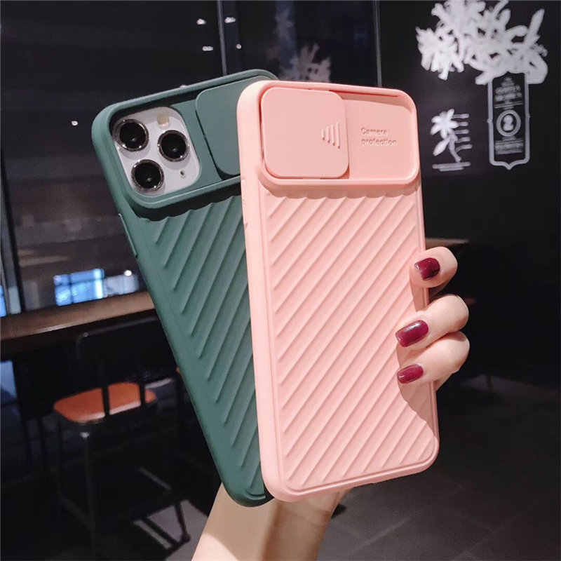 Camera Protection Shockproof Phone Case for iPhone 11 Pro X XR XS Max 7 8 Plus Pure Color Ultra Soft TPU Silicone Back Cover