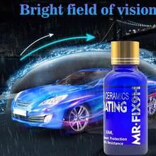 30ml lavagem de carro & manutenção pintura cuidados 9h anti-risco carro líquido revestimento cerâmico super hidrofóbico revestimento de vidro polonês kit