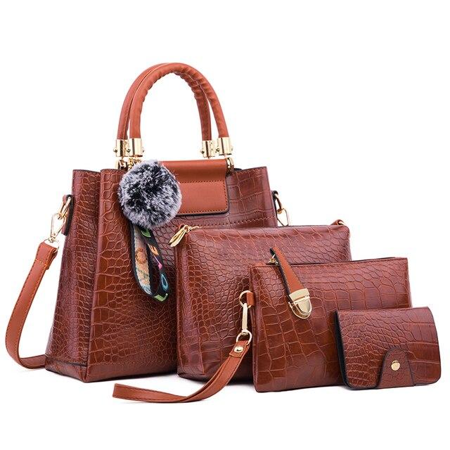 Ceossman 4 pçs/set bolsa feminina sacos de mão das senhoras bolsas de luxo bolsas femininas sacos de grife para a mulher 2020 bolsa saco composto do plutônio 5