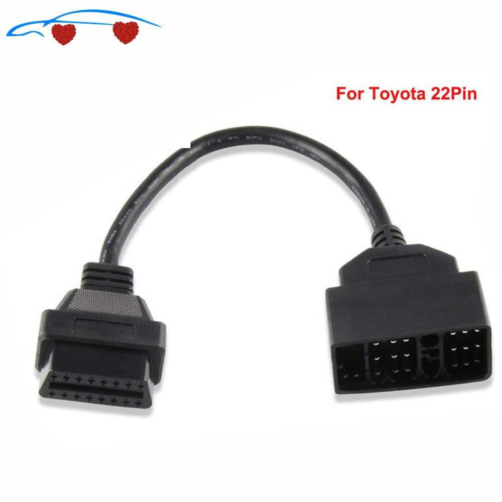 Топ OBD2 кабель адаптер для T-yota 22Pin к 16Pin OBD OBD2 диагностический разъем 22 Pin к 16 Pin для ToY-0ta 22PIN кабель ODBII