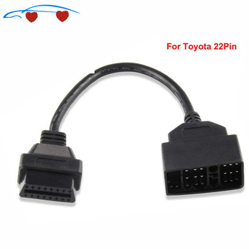 Top OBD2 Cable Adapter for T-yota 22Pin to 16Pin OBD OBD2 Diagnostic Connector 22 Pin to 16 Pin For ToY-0ta 22PIN ODBII Cable image