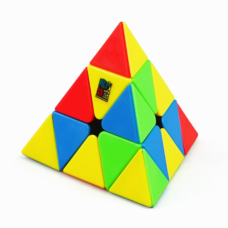 MoYu Meilong 3x3x3 Triangle Pyramid Cube Stickerless Puzzle Magic Cube Speed Tower Cube 3x3 Educational Toys For Children Boys