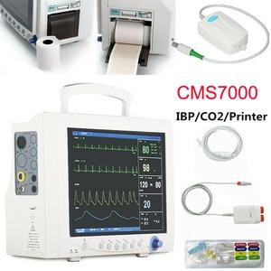 CONTEC CMS7000 ICU Patient Monitor ECG NIBP SPO2 RESP TEMP PR Hospital Vital Signs Machine Medical Device +ETCO2+2 IBP + Printer