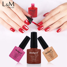 Ibdgel-esmalte 7.3ml embeber uv & led 79 cores gel arte do prego polonês
