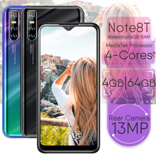 Smartphones Note 8T Mobile Phones 4GB RAM 64GB ROM 6 26INCH 13MP Face Recognition Unlocked Android OS Cellphones Cellphon cheap BYLYND Detachable Up To 48 Hours 3000 Adaptive Fast Charge Smart Phones QWERTY Keyboard Capacitive Screen English Russian