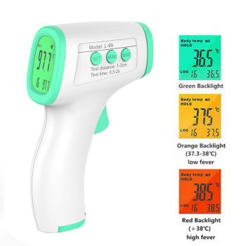 Baby Thermometer Infrared Digital LCD Body Measurement Forehead Ear Non-Contact Adult Body Fever IR Children Termometro tanie i dobre opinie Hokerbat Termometr na podczerwień Aaa baterii Handheld