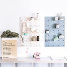 DIY Storage Free Punching Tallation Shelf Wall Decoration Free Punching wall shelf living room bedroom