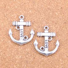 6pcs Charms anchor 30x25mm Antique Pendants,Vintage Tibetan Silver Jewelry,DIY for bracelet necklace