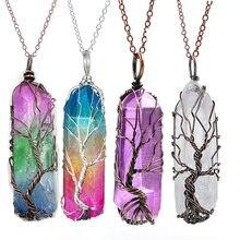 Винтажная Подвеска из камня и хрусталя reiki ожерелье натурального