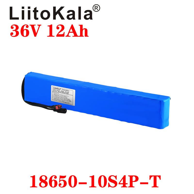 LiitoKala 36V 12ah electric bicycle battery pack 42V <font><b>18650</b></font> Li-Ion Battery 500W High Power and Capacity 42V Motorcycle Scooter image